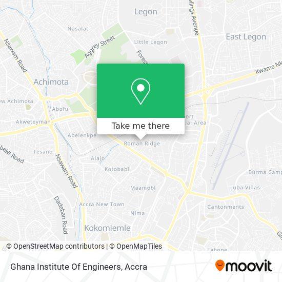Ghana Institute Of Engineers map