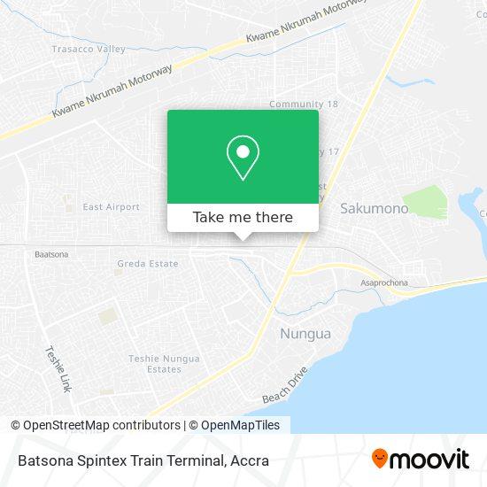 Batsona Spintex Train Terminal map