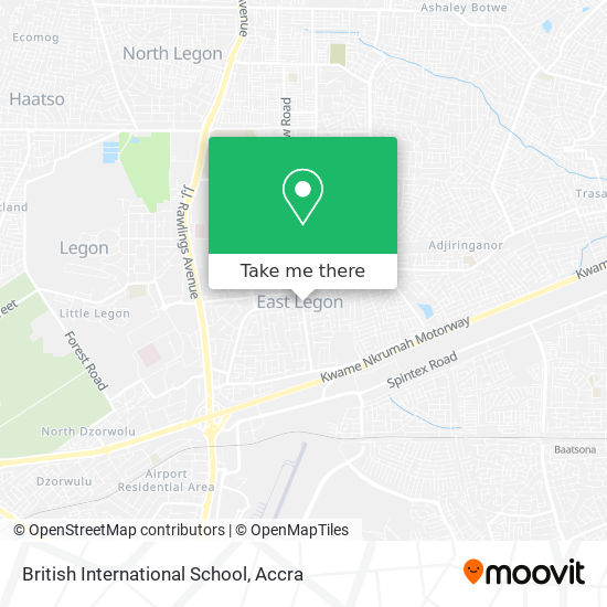 British International School map