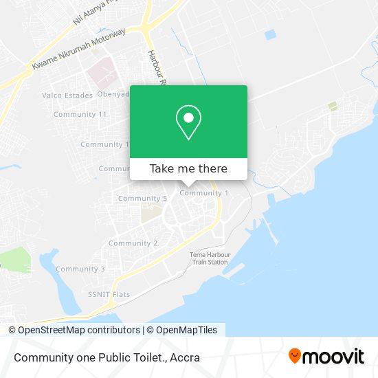 Community one Public Toilet. map