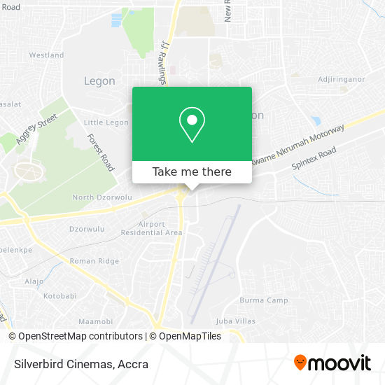 Silverbird Cinemas map