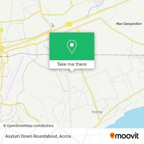 Asylum Down Roundabout map