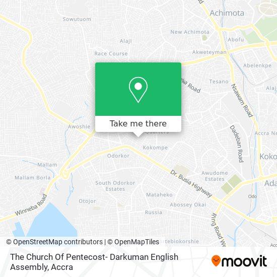 The Church Of Pentecost- Darkuman English Assembly map