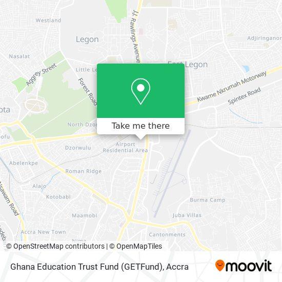 Ghana Education Trust Fund (GETFund) map