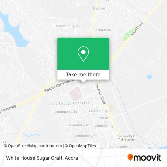 White House Sugar Craft map