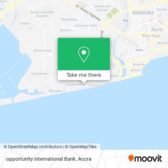 opportunity international Bank map