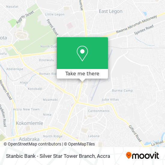 Stanbic Bank - Silver Star Tower  Branch map