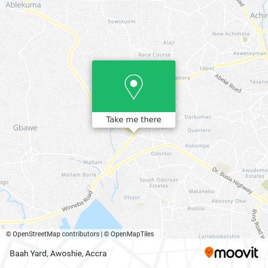 Baah Yard, Awoshie map