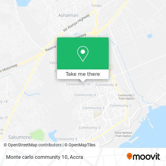 Monte carlo community 10 map