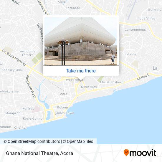 Ghana National Theatre map