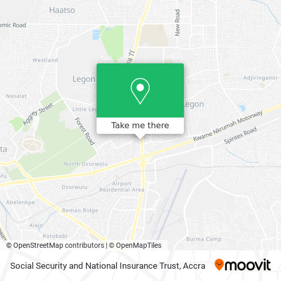 Social Security and National Insurance Trust map
