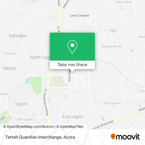 Tetteh Quarshie Interchange map