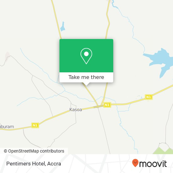 Pentimers Hotel map