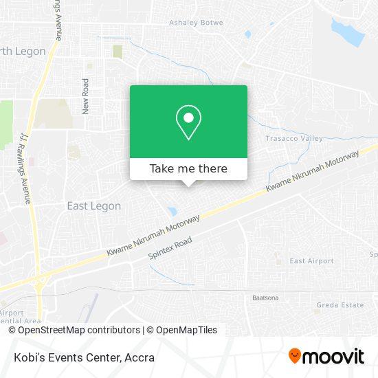 Kobi's Events Center map