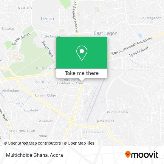 Multichoice Ghana map