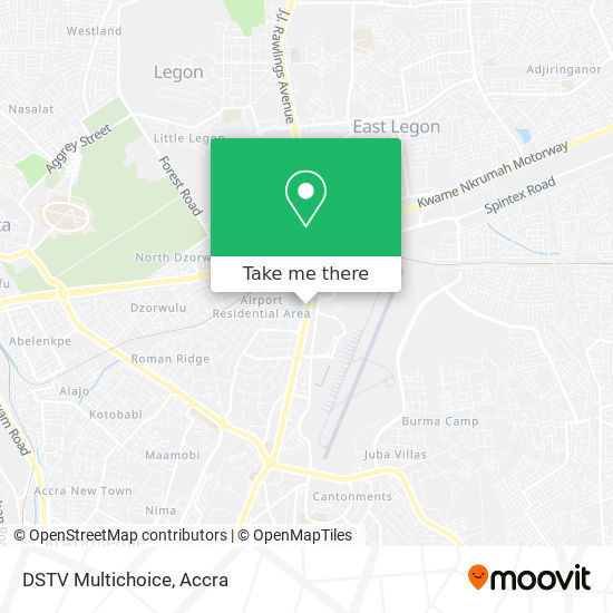 DSTV Multichoice map