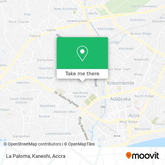 La Paloma, Kaneshi map