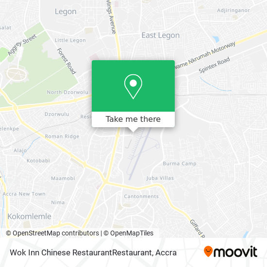 Wok Inn Chinese RestaurantRestaurant map