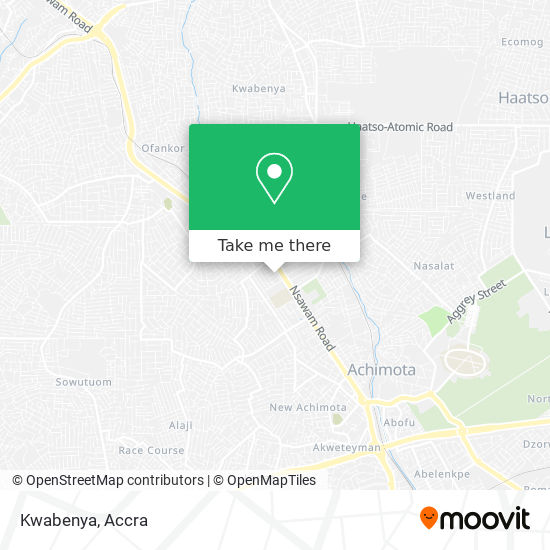 Kwabenya map