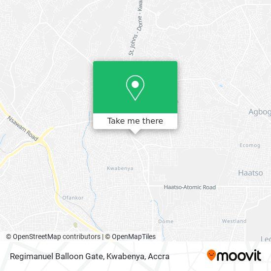 Regimanuel Balloon Gate, Kwabenya map