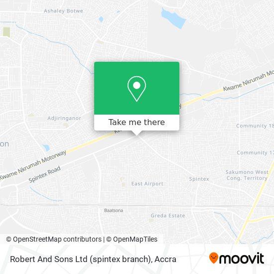 Robert And Sons Ltd (spintex branch) map