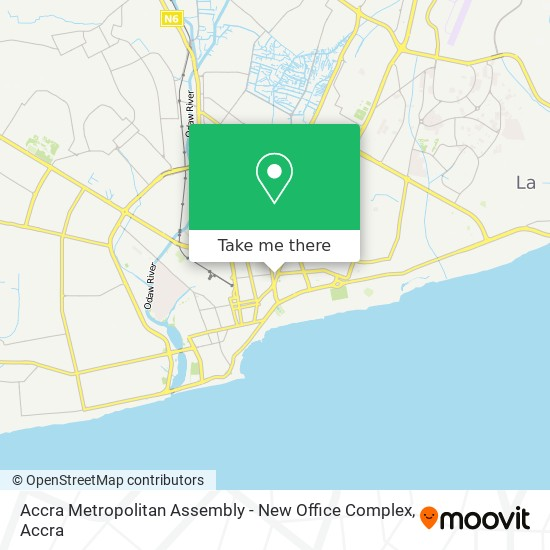 Accra Metropolitan Assembly - New Office Complex map
