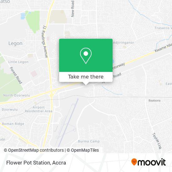 Flower Pot Station map