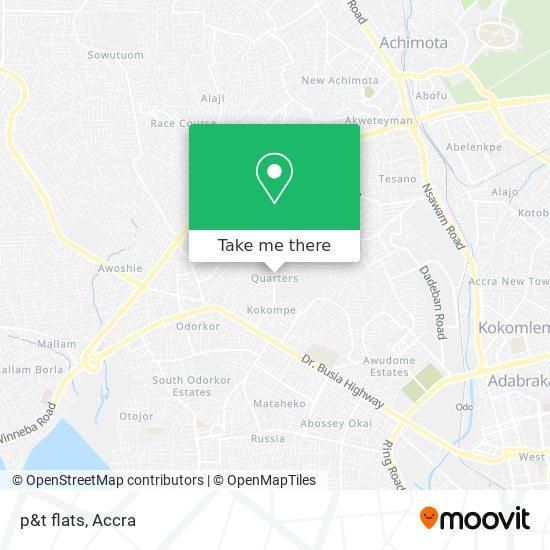 p&t flats map