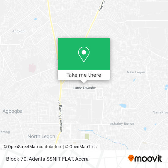 Block 70, Adenta SSNIT FLAT map