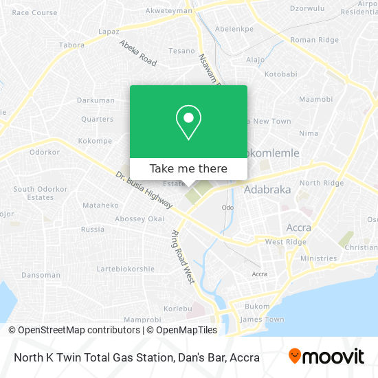 North K Twin Total Gas Station, Dan's Bar map