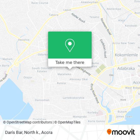Dan's Bar, North k. map