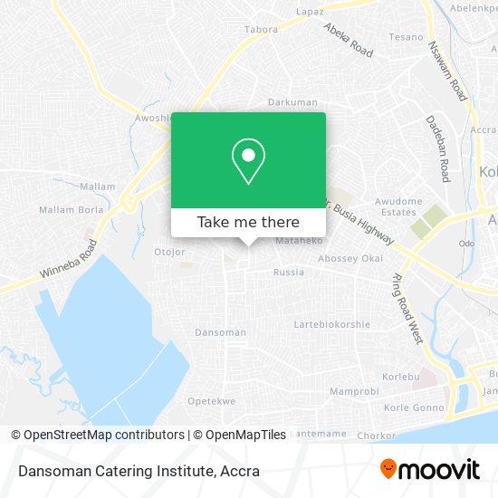 Dansoman Catering Institute map