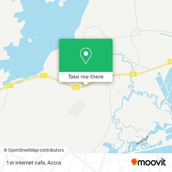 1st internet cafe map