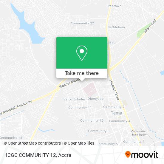 ICGC COMMUNITY 12 map
