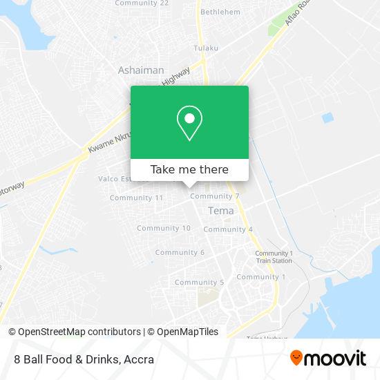 8 Ball Food & Drinks map
