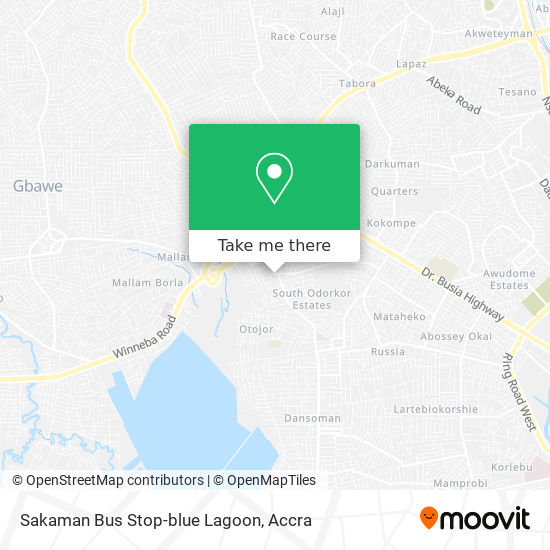 Sakaman Bus Stop-blue Lagoon map