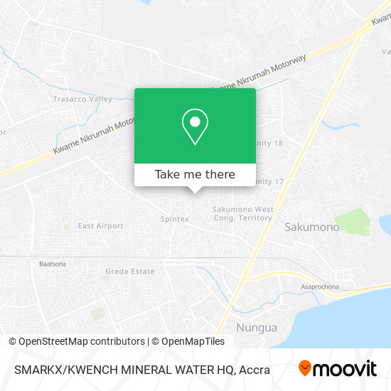 SMARKX/KWENCH MINERAL WATER HQ map