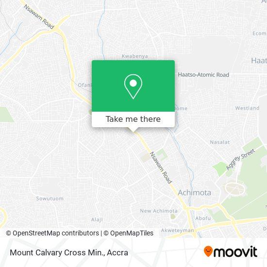 Mount Calvary Cross Min. map