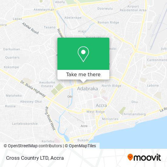 Cross Country LTD map