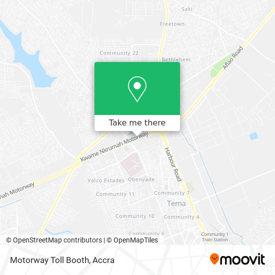 Motorway Toll Booth map
