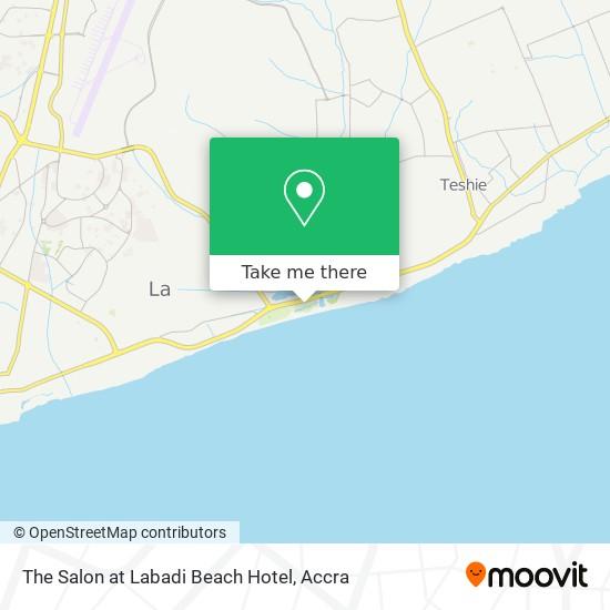 The Salon at Labadi Beach Hotel map