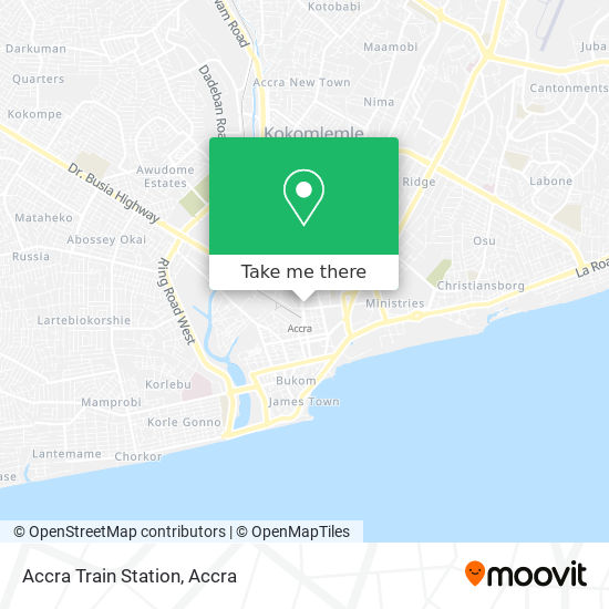 Accra Train Station map
