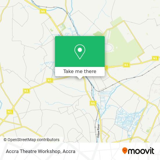 Accra Theatre Workshop map