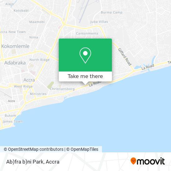 Ab)fra b)ni Park map