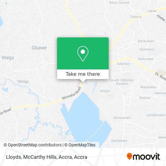 Lloyds, McCarthy Hills, Accra map