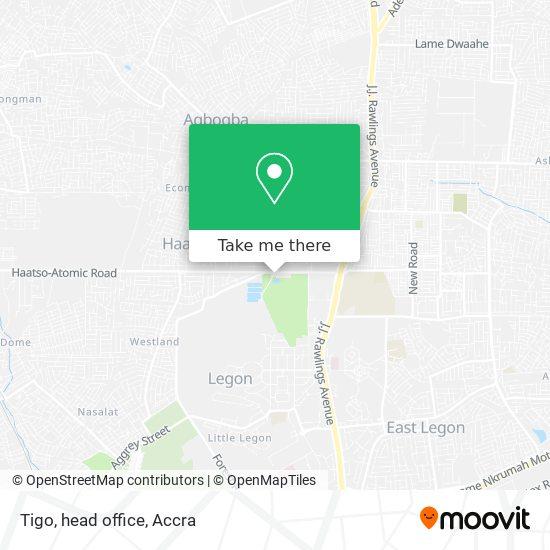 Tigo, head office map