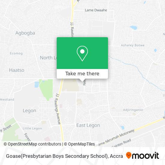 Goase(Presbytarian Boys Secondary School) map