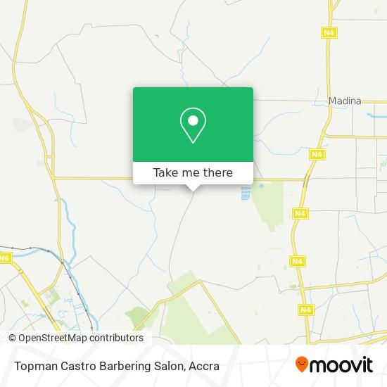 Topman Castro Barbering Salon map