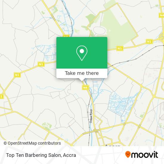 Top Ten Barbering Salon map