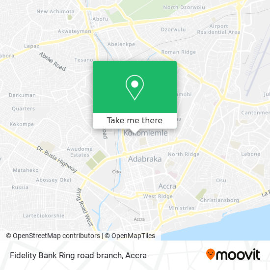 Fidelity Bank Ring road branch map
